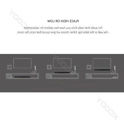 40W 3D Surround TV Sound Bar System Wireless w/ Subwoofer