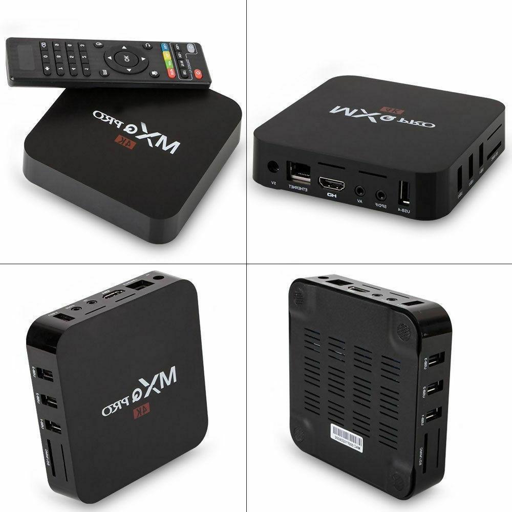 MXQ 64Bit Android 7.1.2 Core Smart Box 1080P HDMI WIFI 17.6