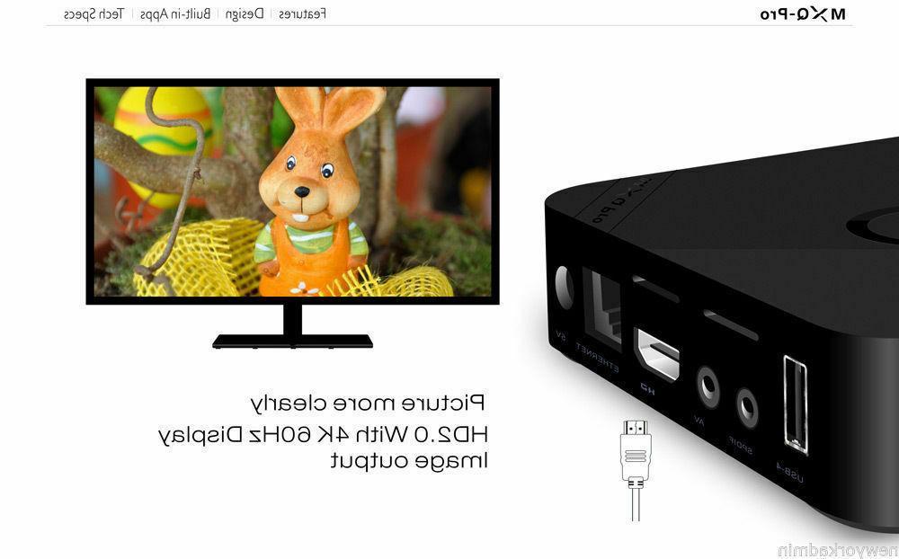 MXQ 64Bit Core Smart 1080P HDMI WIFI 17.6