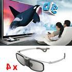 4x 3D Glasses Active Bluetooth for Panasonic Samsung 3D TV a