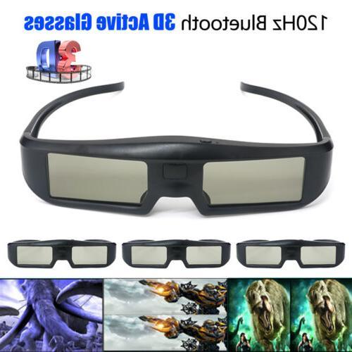 4x G06-BT 120Hz 3D Blue-tooth Active Shutter Glasses Recharg