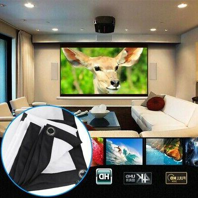 """4K 60""""-120 inch 3D TV Projector Screen HD Home Theater Outdo"""