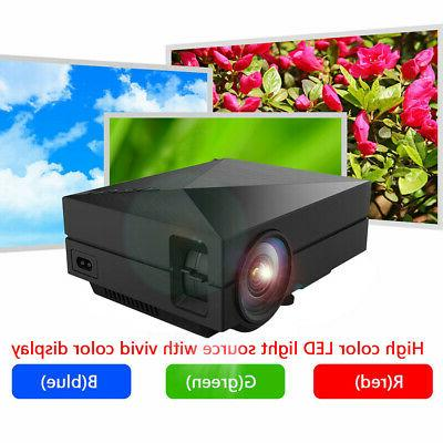 5000 Lumen HD 1080P LED VGA HDMI TV Home Theater Cinema