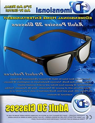 3D For LG 3D TVs Adult Sized Circular Polarized 3D