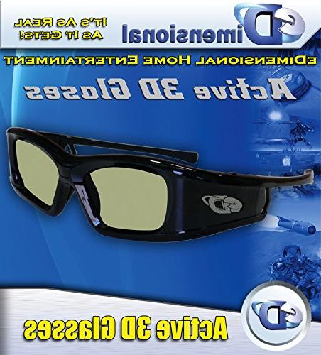 SAMSUNG eDimensional RECHARGEABLE 3D Glasses 2011-15 Bluetooth TV's