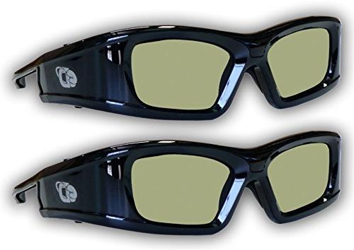 Samsung 2 Pack Compatible eDimensional Rechargeable 3D Glass