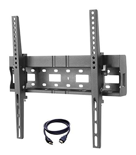 "TV Bracket 32-55"" Fixed TV Wall Mount with Built-in Spirit L"