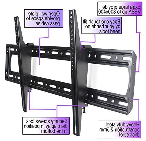 VideoSecu Tilting TV Wall Bracket for most LCD Plasma OLED TV up 800x400mm and LBS Loading
