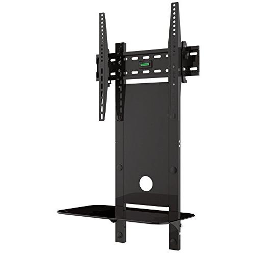 VonHaus TV Wall Tilt Bracket with Glass Shelf for 32-55 inch