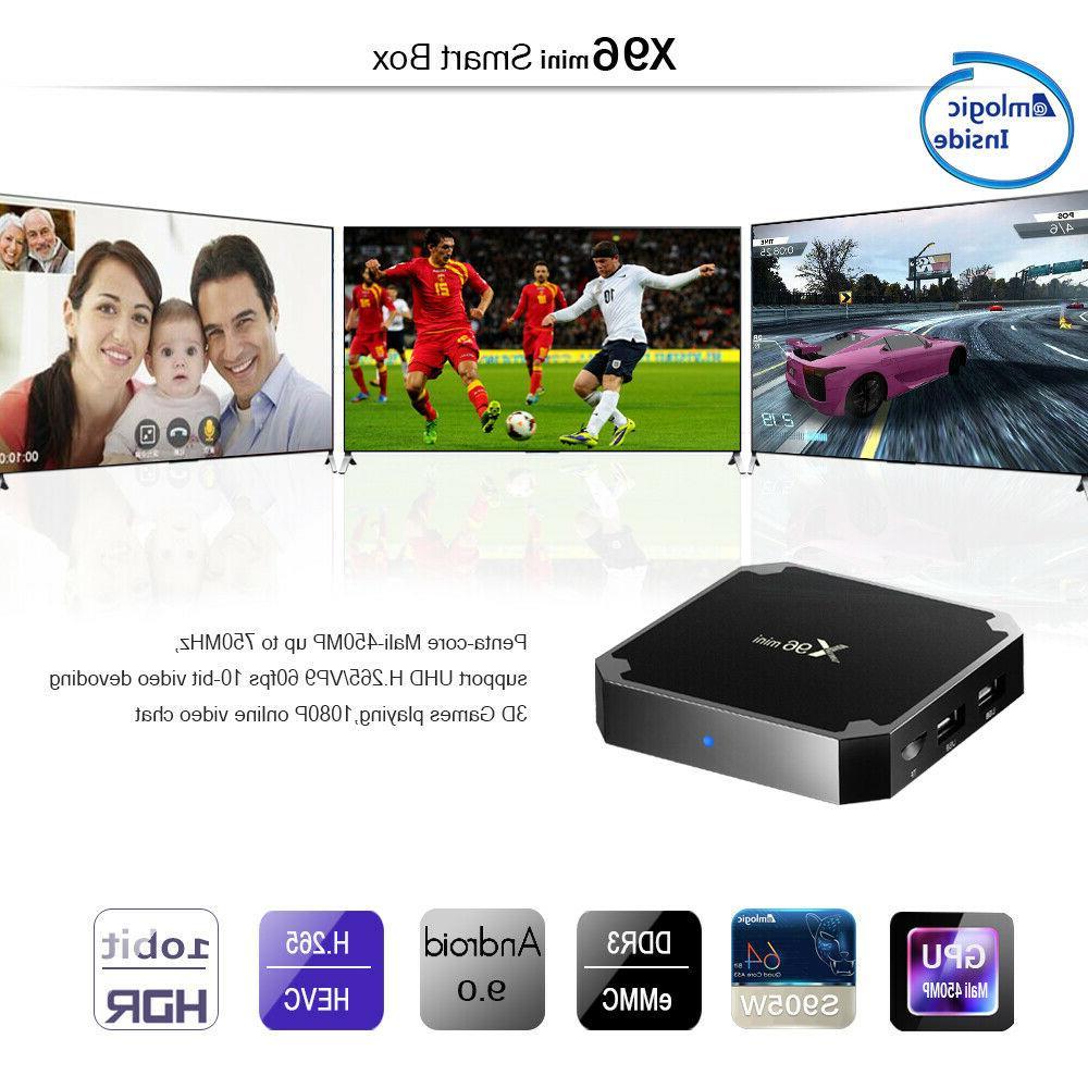 Android 9.0 BOX Quad Core HDMI Media 4K 3D 8G