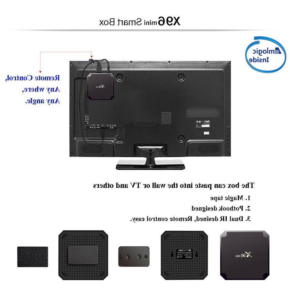 Android 9.0 TV BOX Quad Core HDMI Media 3D Movies Films