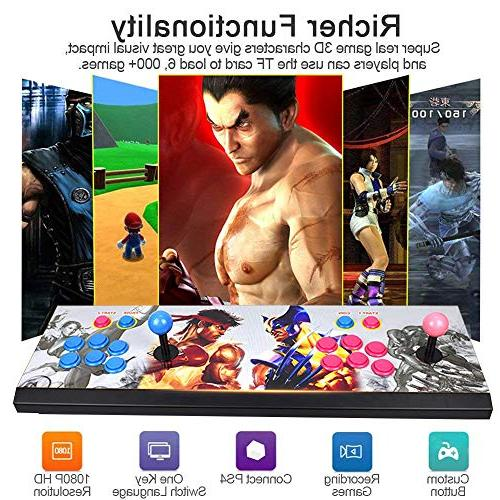 1080P 3D Games Pandora's Box 3D 2 Players Machine with Arcade Support 6000+ Games / PS4