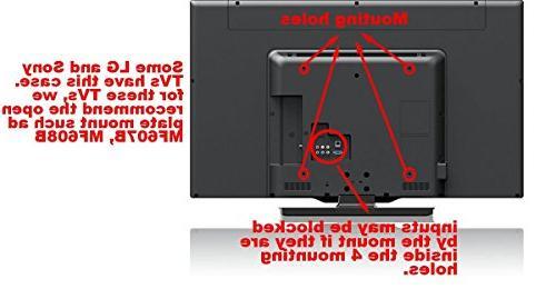 """most Vizio LG 26""""- LCD Fit VESA 400x300, 200x100mm"""