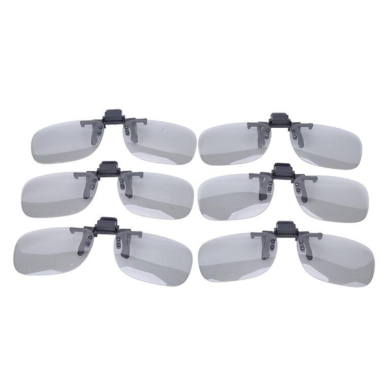 Clip On type Circular Glasses Clip for <font><b>3D</b></font> Cinema Glasses Real D <font><b>3D</b></font> Cinemas