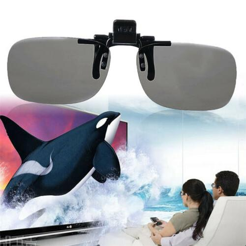 Clip On type Passive Circular Polarized 3D Glasses Clip for