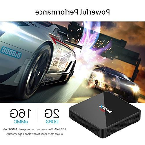 6.0 TV Quad-core Smart Box with Dual Bluetooth 4.0 H.265 4k2k