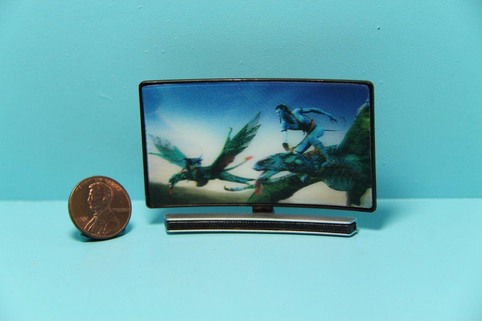 dollhouse miniature large curve screen tv