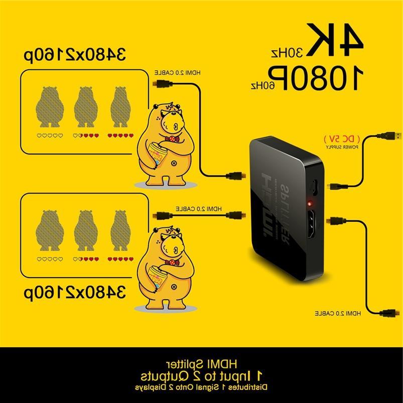 Robotsky 1 <font><b>HDMI</b></font> <font><b>Splitter</b></font> Hub 2160p1080p