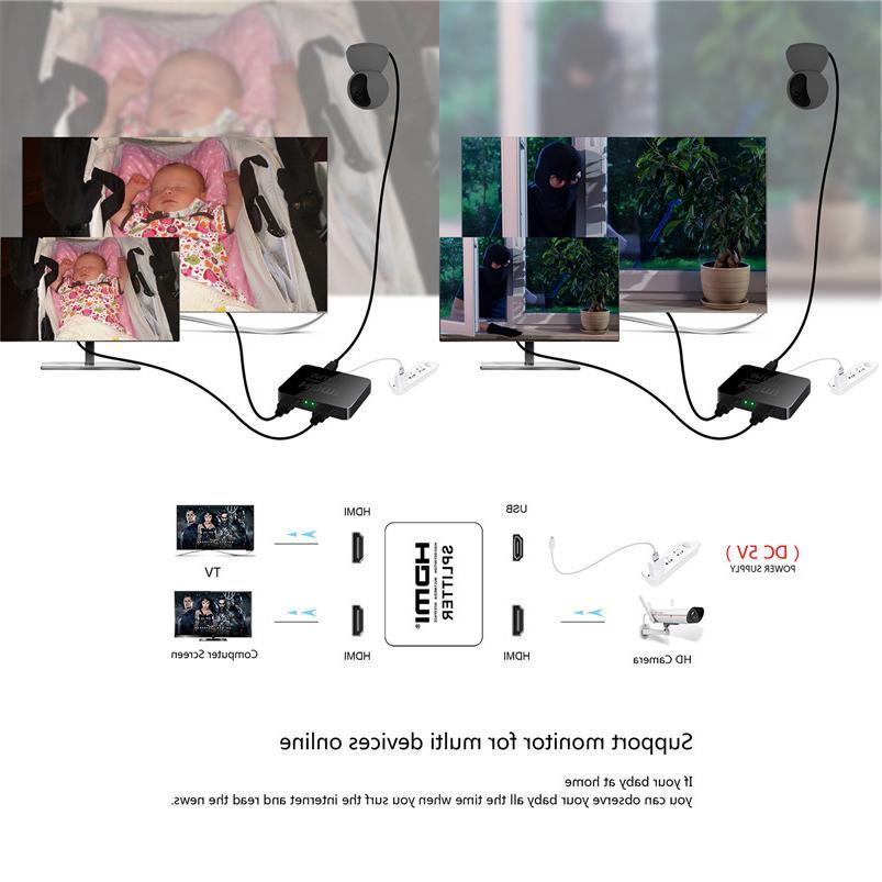 Robotsky 1 Input Output <font><b>HDMI</b></font> Switcher Box Hub 2160p1080p