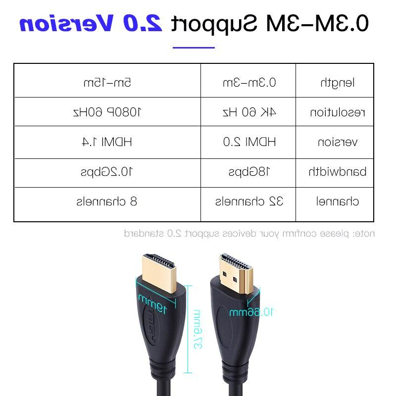 Shuliancable <font><b>Cable</b></font> High speed 3D plated for HDTV 0.3m 1.5m 3m 5m 10m 15m