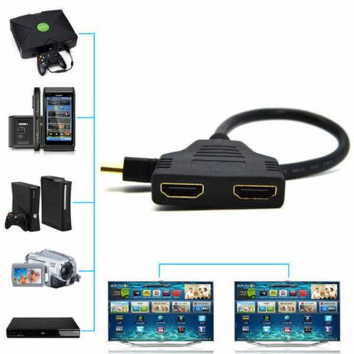 HDMI Dual 4K 3D Cable Adapter LCD TV