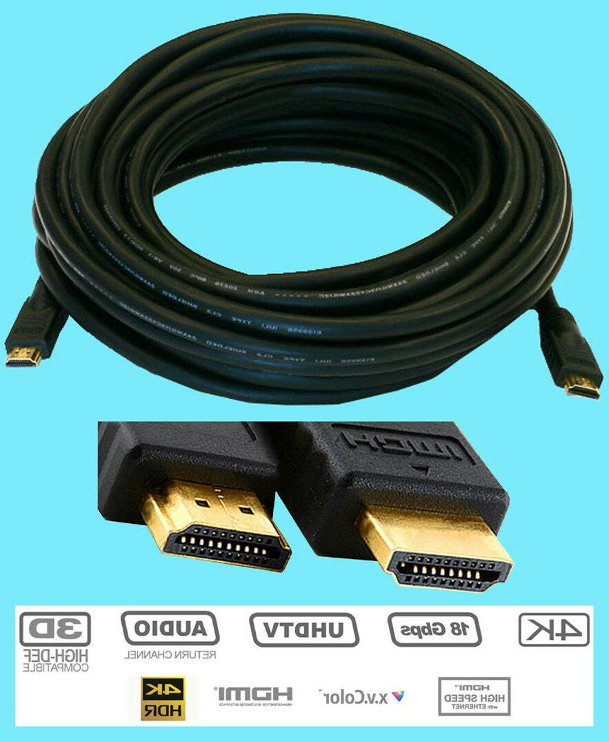 ULTRA GOLD HDMI 45 foot Video Cable CL2 24 AWG 1.4 ft HD LED