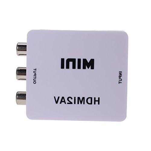 HDMI to RCA, HDMI AV Video Audio Composite PAL/NTSC Converte