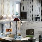 IK- 3D Modern Striped Curve Non-Woven Roll Bedroom TV Backgr