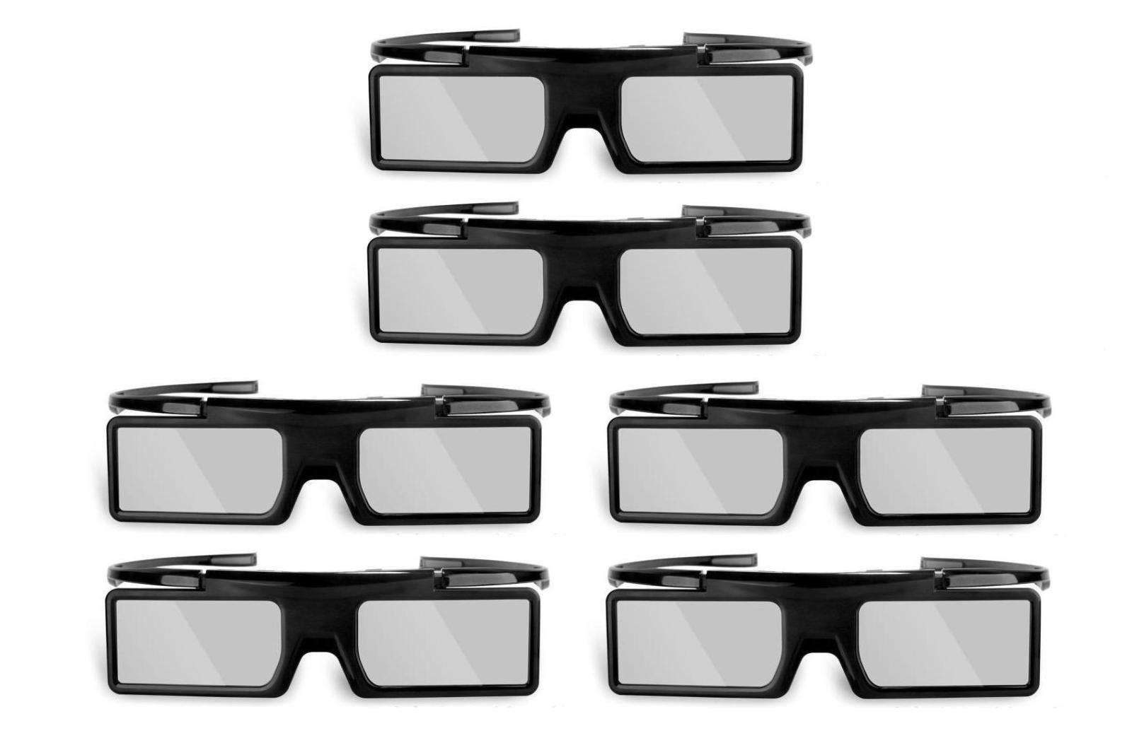 Lot of 6 3D Active Shutter Glasses for 2015 Sony 3D TV