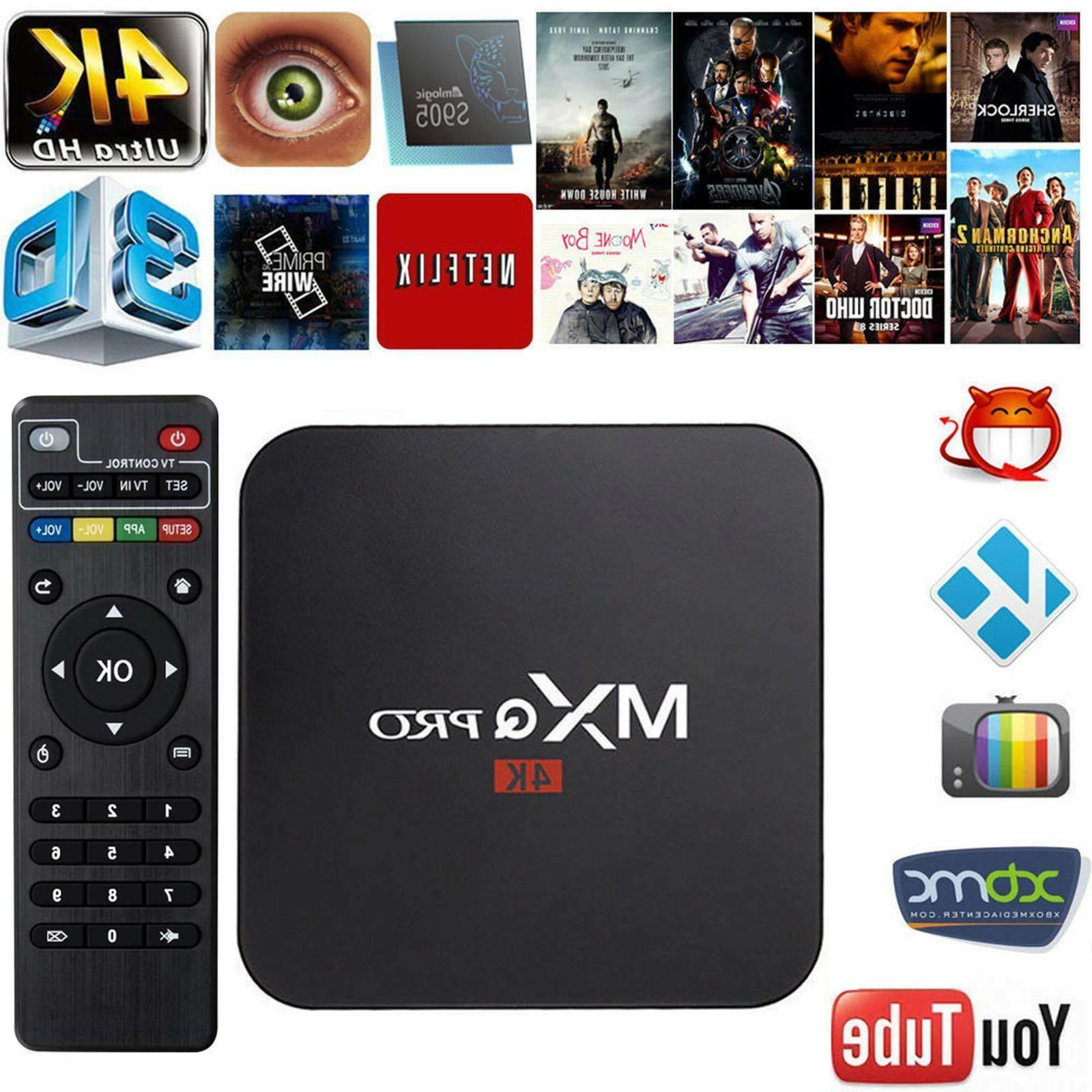 MXQ Pro 4K 3D 64Bit Android 7.1 Quad Core 1080P HDMI WIFI KO