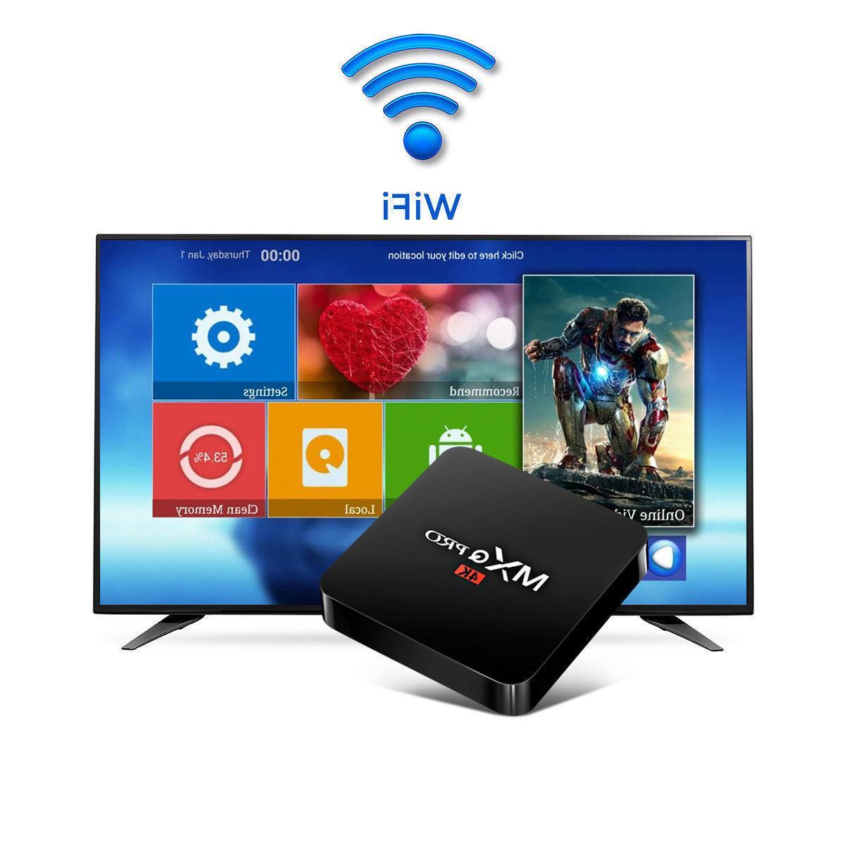 MXQ Pro Android 7.1 Smart TV Box Quad HDMI