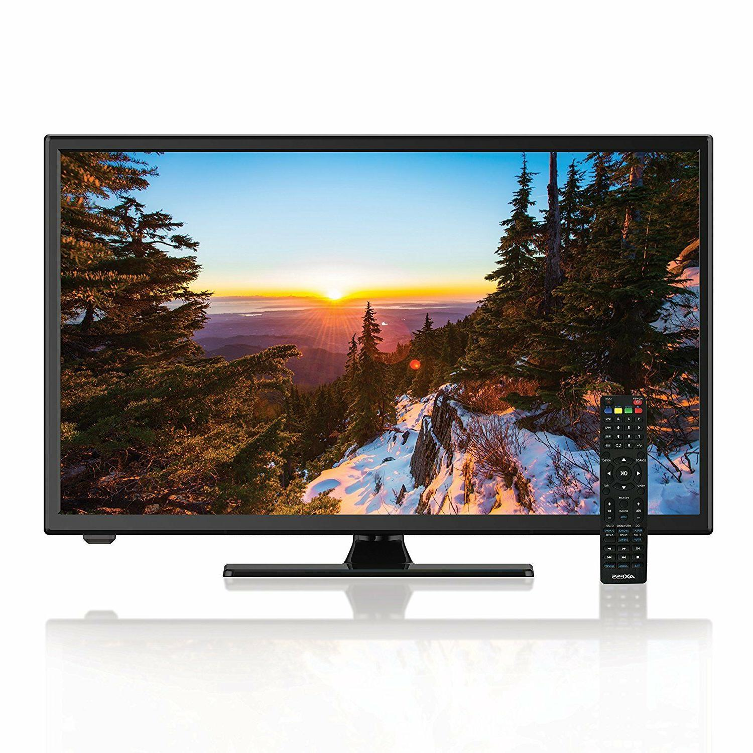"""New Axess 24"""" HDTV LED LCD Television DVD Player with 3D Com"""