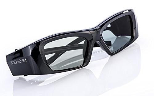 """Samsung-Compatible active Glasses   Rechargeable   For 2013-2018 SAMSUNG, LG Full HD/HDR/4k TV  """"Black Diamond"""""""