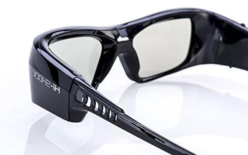 "Samsung-Compatible 3D Glasses Rechargeable For LG Plasma, PANASONIC, Sony Full HD/HDR/4k TV  ""Black Diamond"""