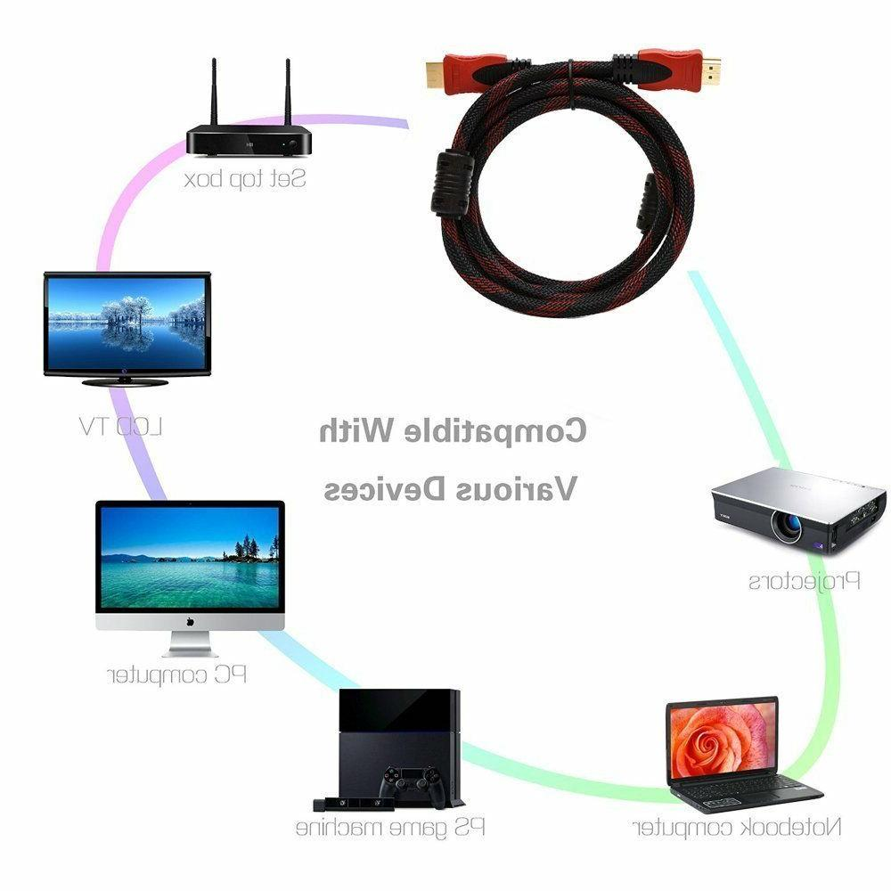 10FT HDMI CABLE For BLURAY PS3 HDTV LCD TV Us