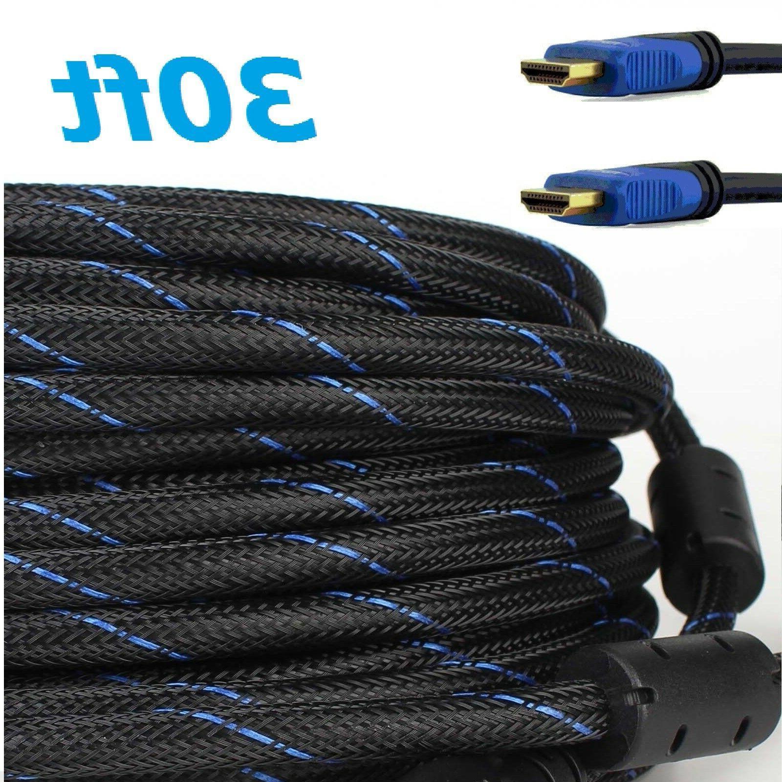 premium 30ft feet hdmi cable 1 4