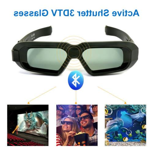 rechargeable active 3d glasses bluetooth rf