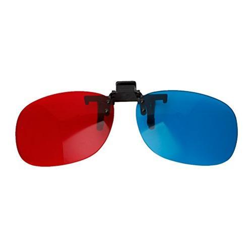 red blue clip 3d glasses