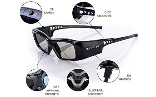"Samsung-Compatible Glasses   For 2013-2018 SAMSUNG, LG Plasma, PANASONIC, Full Diamond"""