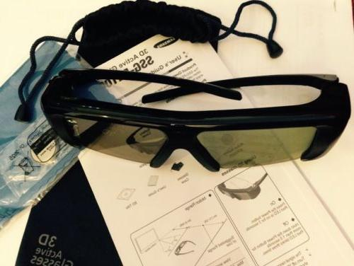 Samsung SSG-2100AB, 3D TV GLASSES with Pouch,Battery,NEW But