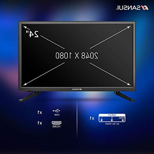 SANSUI LED TV 1080p HD Slim High Monitor with HDMI PCA and