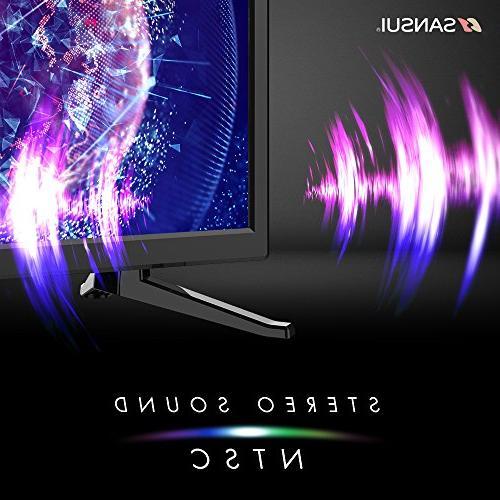 SANSUI TV 24'' 1080p HD 60Hz Slim Electronics Monitor HDTV PCA Input and