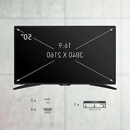 """SANSUI 50"""" TV with Flat Screen TV, HDMI PCA High Definition and 4"""