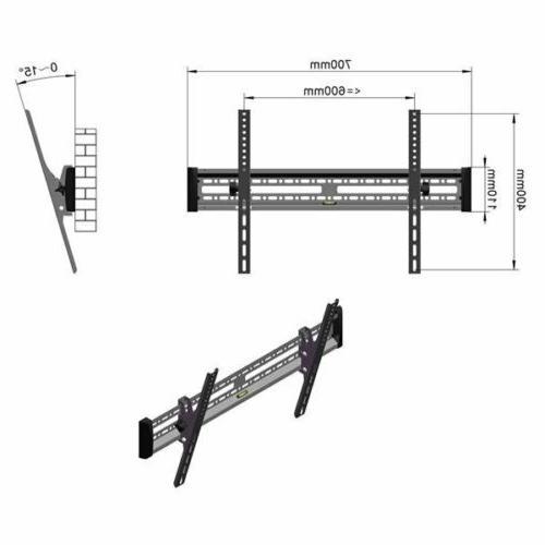 TV Wall Mount Bracket Tilt For 32 37 45 50 55 60 65 70 Inch
