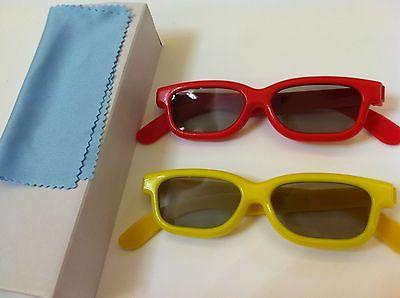 Two Pairs Kids 3D Glasses For VIZIO Passive polarized 3D TV