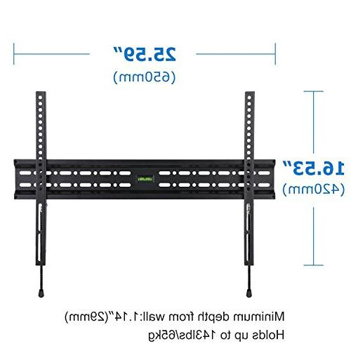 Happyjoy Slim TV Mount for 32-75 inch 3D Strong,Max 600x400mm