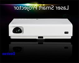 Deeirao LED Laser Projector, DLP Home Theater 3D Projector S