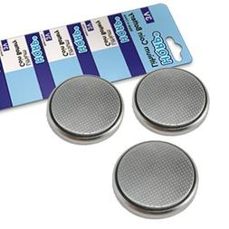 HQRP 3 Pack Lithium Coin Battery compatible with Samsung 3D