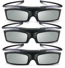 Lot of 3 New Samsung 4K HD UHD SUHD 3D Active TV Glasses SSG
