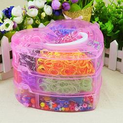 Calababy Love 3 Layers Boxed Colorful Loom Kit-4000 Rubber B